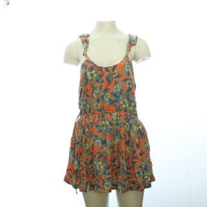 Free People Womens Mini Dress XS Floral Strap